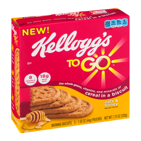 Kellogg's To Go Cereal in a Biscuit Oats & Honey - 5 CT