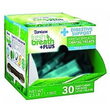 Tropiclean Fresh Breath Plus Dental Dog Treats 1.2 Ounce-30 Pc Digest Support 001770