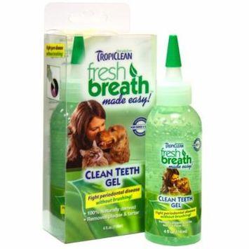 TropiClean Fresh Breath Clean Teeth Gel for Dogs -4 FZ
