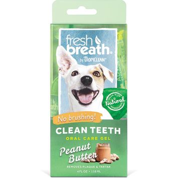 Fresh Breath by Tropiclean Peanut Butter Flavor Clean Teeth for Dogs, 4 oz [name: size value: size-4oz]