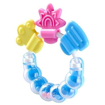 BleuMoo Baby Rattle Teether Infant Molar Tooth Care Rattles Pacifier Toys Color Random