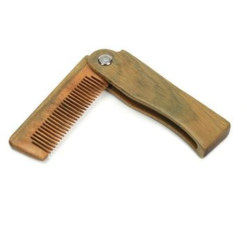 ForUBeauty Folding Comb, Portable Solid Wood Massage Comb, No Static Hair Comb for Men and Women