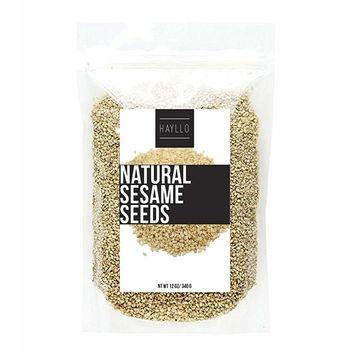Hayllo Natural Sesame , 12 Ounce [Natural Sesame Seeds]