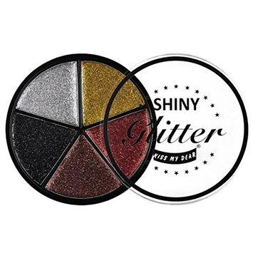 Hunputa Eyeshadow,5 Color Glitter Eyeshadow Cream Makeup Waterproof Brighten Eye Shadow Cosmetic