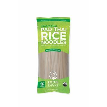 Lotus Foods Gourmet Organic Traditional Pad Thai Noodles, 8 Count [Traditional]
