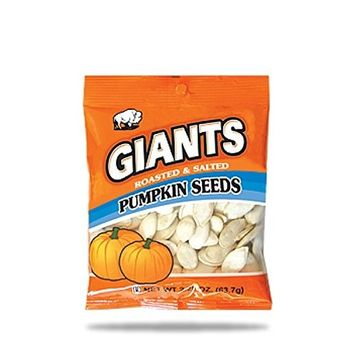 GIANTS Pumpkin Seeds, Roasted and Salted 2.25 oz. (Pack of 12)