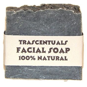 Acne Soap Natural Facial Bar Contains Tea Tree Oil Activated Charcoal Shea Butter Coconut and Olive Oil Comes With Case Chemical Free