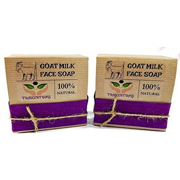 Goat Milk Soap Anti-Aging Formula For Face Cleaning and Moisturizing Made With Frankincense Essential Oil and Clary Sage Which Provide Astringent Properties For The Skin
