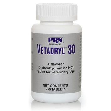 PRN Pharmacal Vetadryl [Options : 30mg - 250 tablets]