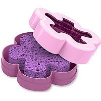 Spongeables Lavender Chamomille Pedi Scrub Foot Buffer In A Sponge 5 + With Container