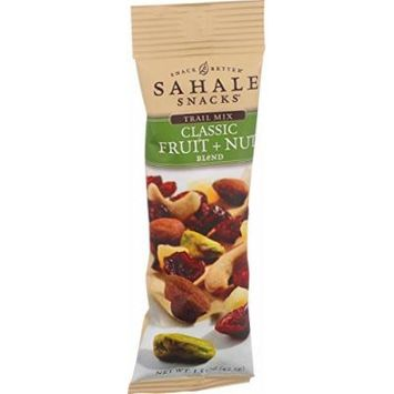 Sahale Snacks Trail Mix - Classic Fruit and Nut Blend - 1.5 oz - Case of 9 - Gluten Free - Yeast Free - Wheat Free -