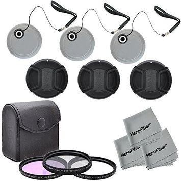 Herofiber 52mm Multi-Coated Professional Lens Filter Accessory Kit and Filter Case (Ult.