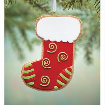 Miles Kimball Stocking Gingerbread Cookie Ornament