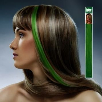 Amscan Party Perfect Team Spirit Hair Extensions (1 Piece), Green, 17 x 2