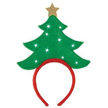 Christmas Tree Light-Up Headband | Party Accessory