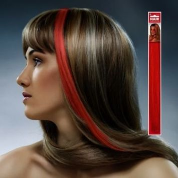 Amscan Hair Extension, Party Accessory, Red