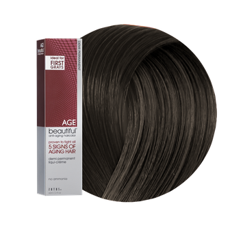 Zotos AGEbeautiful Anti-Aging Demi Permanent Liqui-Creme Haircolor 3N Darkest Brown