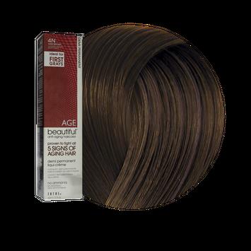 Zotos AGEbeautiful Anti-Aging Demi Permanent Liqui-Creme Haircolor 4N Dark Brown