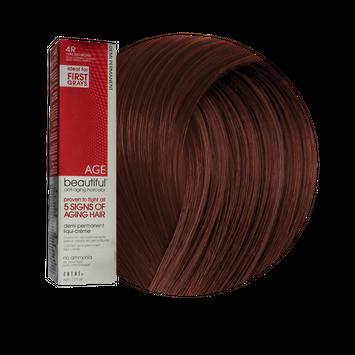 Zotos AGEbeautiful Anti-Aging Demi Permanent Liqui-Creme Haircolor 4R Dark Red Brown