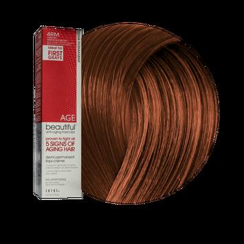 Zotos AGEbeautiful Anti-Aging Demi Permanent Liqui-Creme Haircolor 4RM Dark Red Mahogany Brown