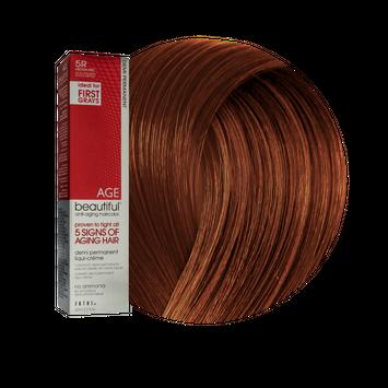 Zotos AGEbeautiful Anti-Aging Demi Permanent Liqui-Creme Haircolor 5R Medium Red