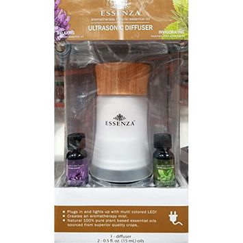 Essenza Aromatherapy Natural Essential Oil Ultrasonic Diffuser with 2 Oils