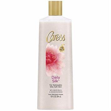 Caress Daily Silk Silkening Body Wash 12 oz (Pack of 4)