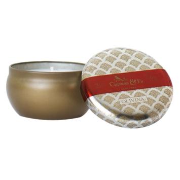 Olivina Candle Tin, Cypress & Fir, 1 ea