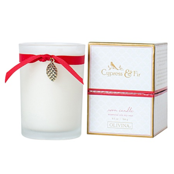 Olivina Room Candle, Cypress & Fir, 1 ea