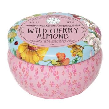 Olivina Fine Artisan Candle, Wild Cherry Almond, 6.5 oz