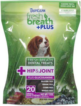 Tropiclean Fresh Breath Plus Small Dental Treats - Hip & Joint - 12oz