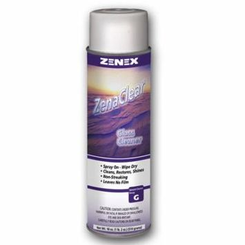 Zenex ZenaClear Streakproof Premium Glass and Surface Cleaner - 12 Cans (Case)