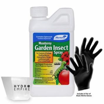 Monterey Insect Spray w/ Spinosad Quart with Gloves and 4oz Measuring Cup