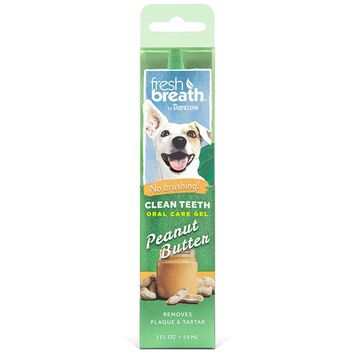 Fresh Breath by TropiClean Dog Clean Teeth Oral Care Gel with Peanut Butter Scent, 2 oz [name: size value: size-2oz]