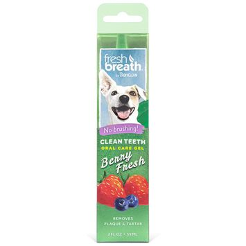 Fresh Breath by TropiClean Dog Clean Teeth Oral Care Gel with Berry Fresh Scent, 2 oz [name: size value: size-2oz]