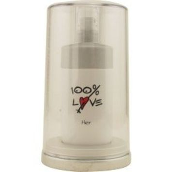 100% Love By Vapro International For Women Edt Spray 2.5 Oz & Body Lotion 3.4 Oz