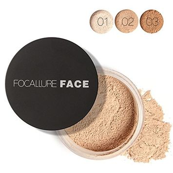 Huayang| Smooth Skin Loose Face Powder, Translucent, Long Lasting Resistant Sweat Oil-control Professional Loose Finishing Powder for Facial Makeup Cosmetic - 7g