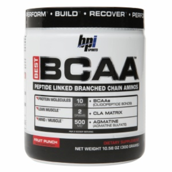 Bpi Sports BPI Sports - Best BCAA Peptide Linked Branched Chain Aminos Fruit Punch - 10.58 oz.