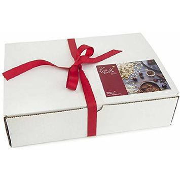Granola Variety Gift Box | Healthy Snack Care Package for Offices or Christmas | Assortment Sampler with 3 Large Bags (Red Ribbon)