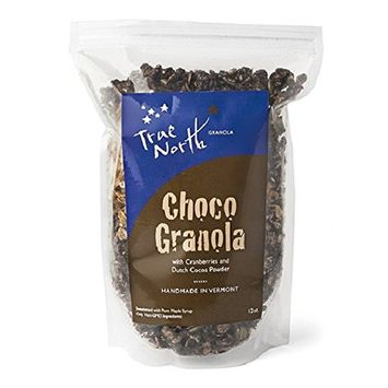 Belgian Chocolate Granola and Dried Cranberries, All Natural and non GMO by True North Granola (12 oz bag)