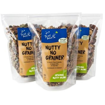 Paleo, Gluten Free and Vegan Grain Free Original Nutty Blend Granola, non GMO, all natural by True North Granola (9 oz.-3 PACK)