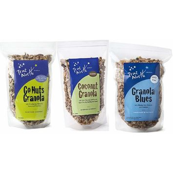 True North Granola Sampler | Go Nuts Granola, Granola Blues, Coconut Granola | Healthy Snack Variety Pack (12 oz bag - 3 PACK)