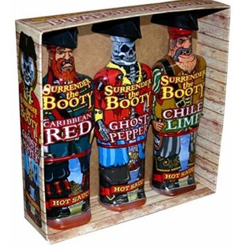 Surrender The Booty Pirate Hot Sauce Gift Set - 3 Flavors - Made in USA