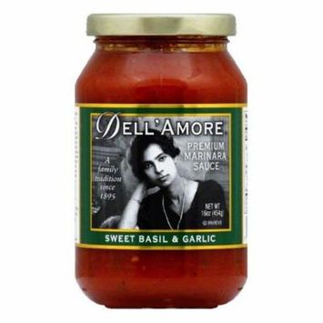 Dell Amore Sweet Basil Marinara Sauce, 16 OZ (Pack of 12)
