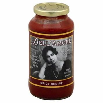 Dell Amore Spicy Recipe Premium Marinara Sauce, 25 Oz (Pack of 6)
