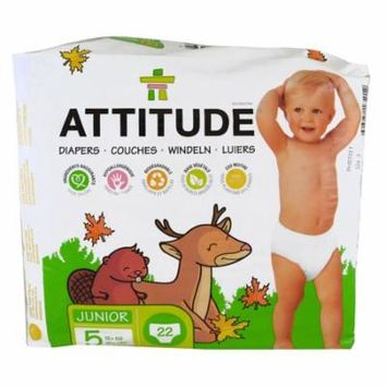 ATTITUDE, Diapers, Junior, Size 5, 27+ lbs (12+ kg), 22 Diapers(pack of 3)