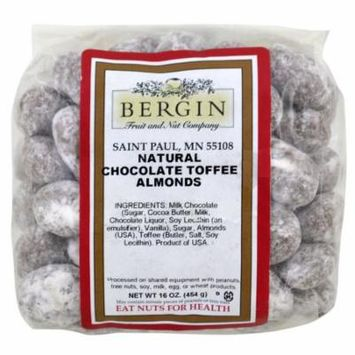 Bergin Fruit and Nut Company Natural Chocolate Toffee Almonds 16 oz 454 g