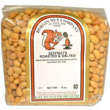 Bergin Fruit and Nut Company, Soy Nuts Roasted & Salted, 9 oz (255 g)