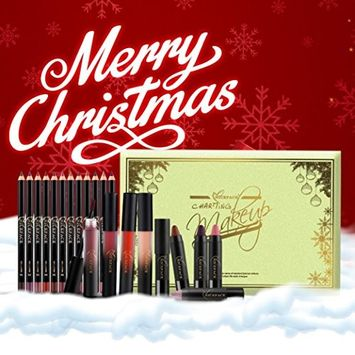 Alonea Christmas Gift Set Lip Liner Lipstick Set