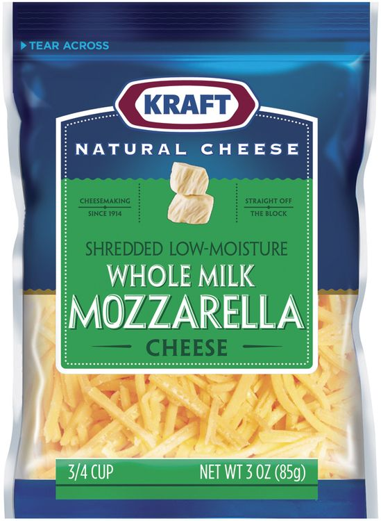 KRAFT NATURAL CHEESE Mozzarella Low-Moisture Whole Milk Shredded CHEESE
